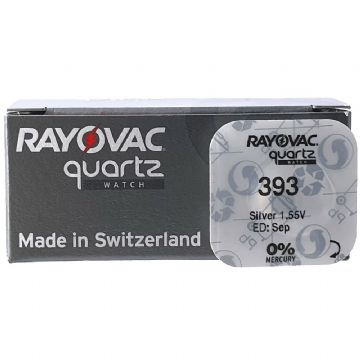 Rayovac 393 SR754W 1.5V Silver Oxide Watch Battery